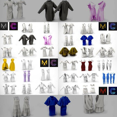 32 Dress for Woman MD / Clo3D