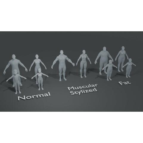 Human Body Base Mesh 10 3D Models