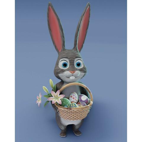 Easter Bunny 3D Model Bundle