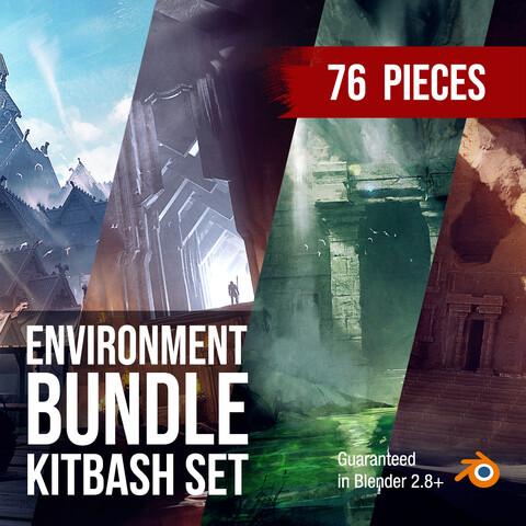 Environment KitBash Set Bundle For Concept Art