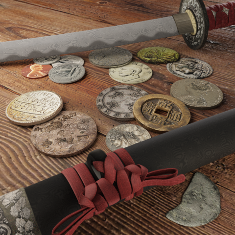 Katana and Coins Bundle