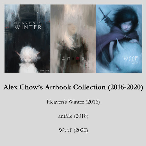 Alex Chow's Artbook Collection (2016-2020) - Three Books in One Package!