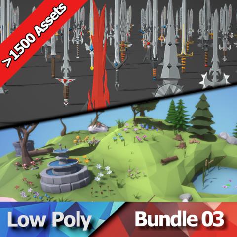 Low Poly Bundle 03 - Nature & Swords