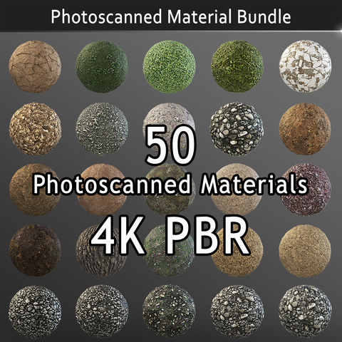 Photoscanned Nature Texture Pack - Commercial License