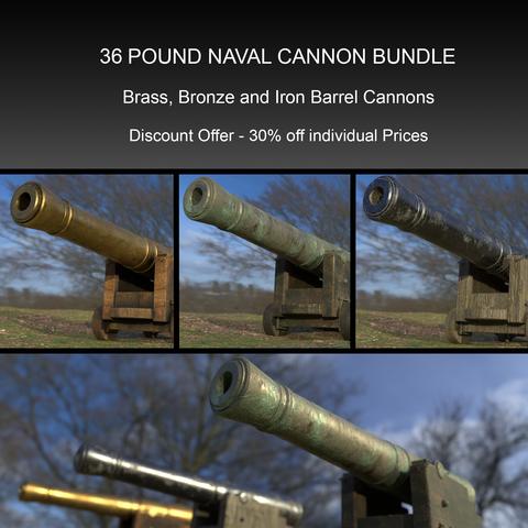 36 Pound Naval Cannon Bundle
