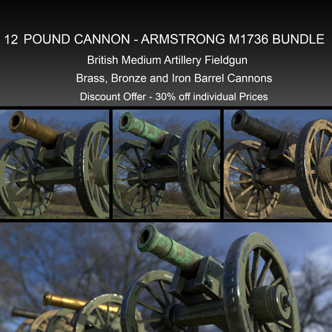 12 Pound Cannon Armstrong Design M1736 Bundle