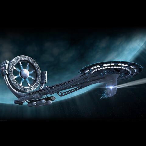 Alien Spaceship (4K, Alpha Channel)
