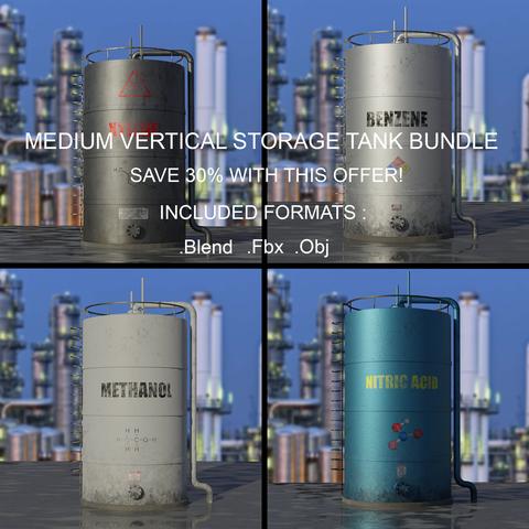 Industrial Medium Vertical Storage Tank Bundle
