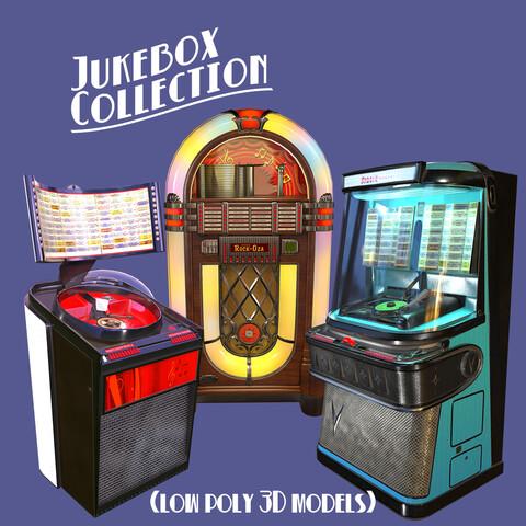 Vintage Jukebox 3D low poly model Collection