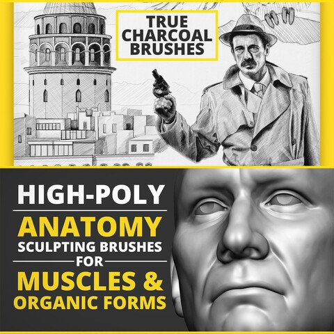 Combo Artist Pack - 2D Photosho Procreate Artstudio Pro & 3D Zbrush Brushes