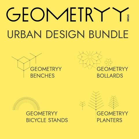 Geometryy Urban Design Bundle (RailClone Templated 3D Models)