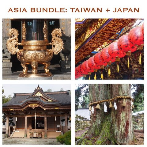 Asia Reference Bundle: Japan & Taiwan (Architecture, Markets, Temples, Props, Vegetation)