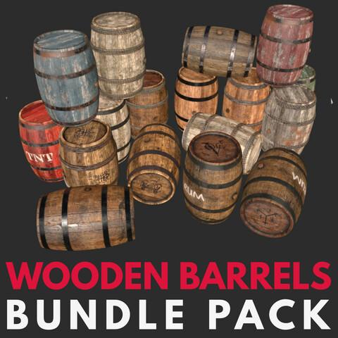 Wooden Barrel Assets Pack