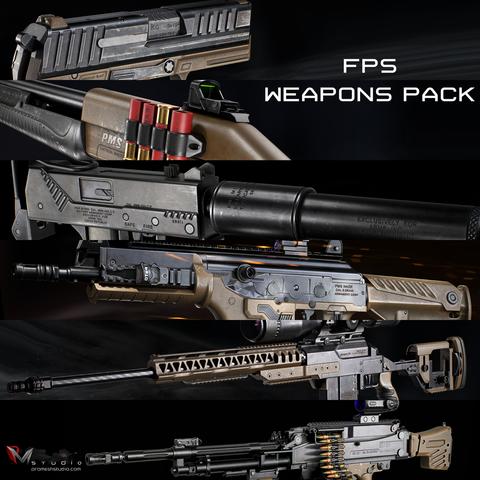 PMS - Modern FPS Weapons Pack - Indie License