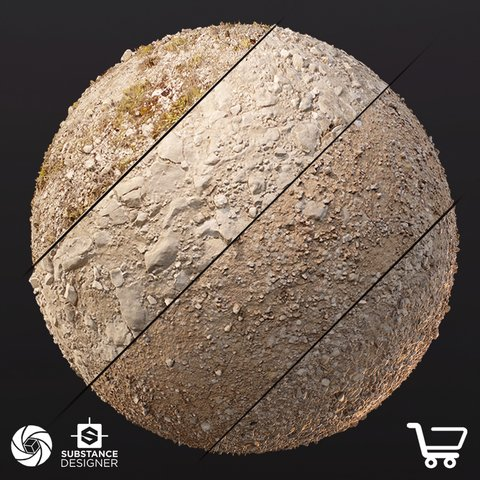 Photogrammetry Ground Material - Collection 1 (Standard License)