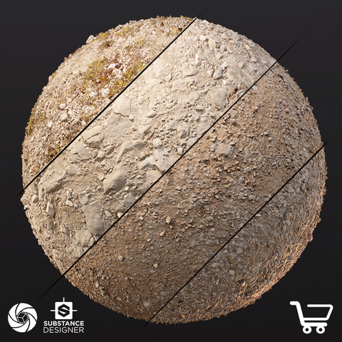 Photogrammetry Ground Material - Collection 1 (Extended Commercial License)