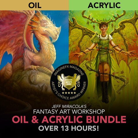 Jeff Miracola's Fantasy Art Workshop Oil & Acrylic Bundle