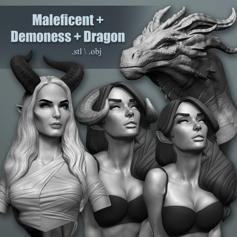Maleficent + Demoness + Dragon Bundle