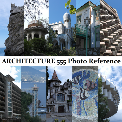 ARCHITECTURE BUNDLE 555 Photo Reference Pictures Standard License