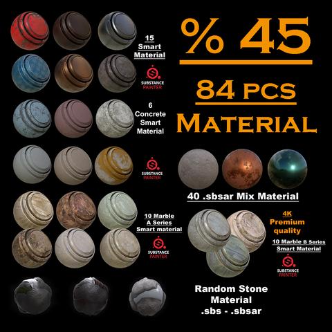 84 Pcs Material pack (.sbs-.sbs-.spsm)