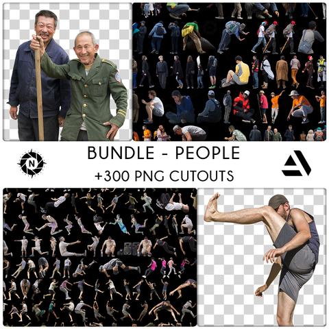 Bundle: PNG Cutouts - People - Freelance License