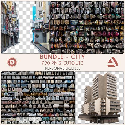 Bundle PNG Photo Packs: City - Personal License