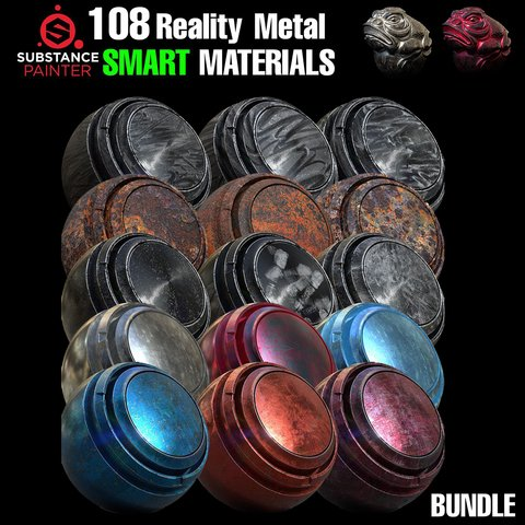 🌟108 High Quality Smart Materials for Substance Painter🌟