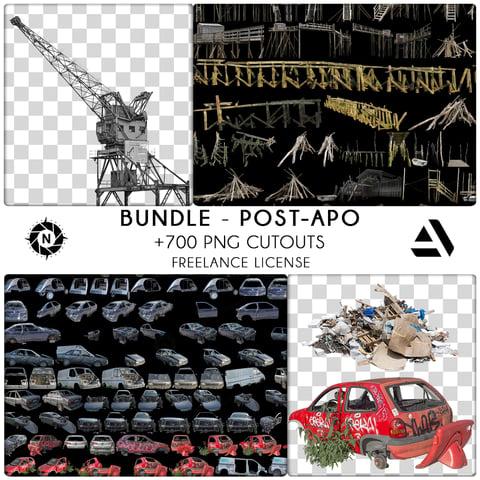 Bundle PNG Photo Packs: Post-Apocalyptic - Freelance  License