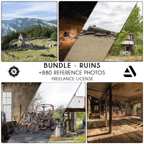 Bundle Reference Photos: Ruins - Freelance License
