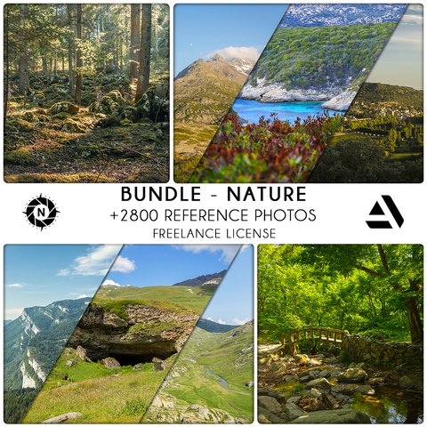 Bundle Reference Photos: Nature - Freelance License
