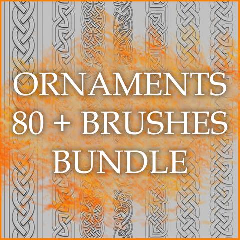 Ornaments 80+ Brushes Bundle