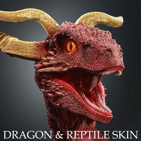 Dragon & Reptile Skin Brushes and Alphas Bundle