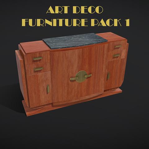 Art Deco Furniture Pack 01