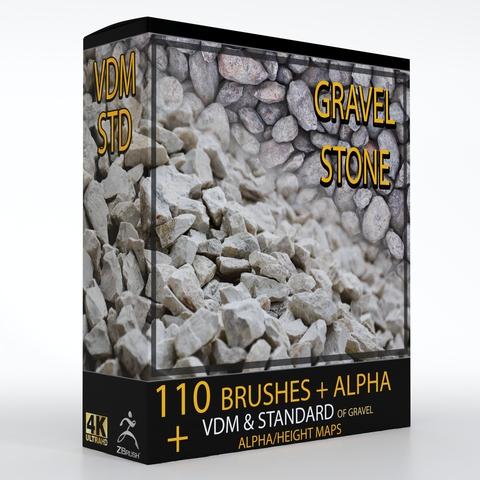 110 VDM + STANDARD BRUSH GRAVEL STONE BRUSHES +110 ALPHA/HEIGHT MAPS HIGH QUALITY (4K)
