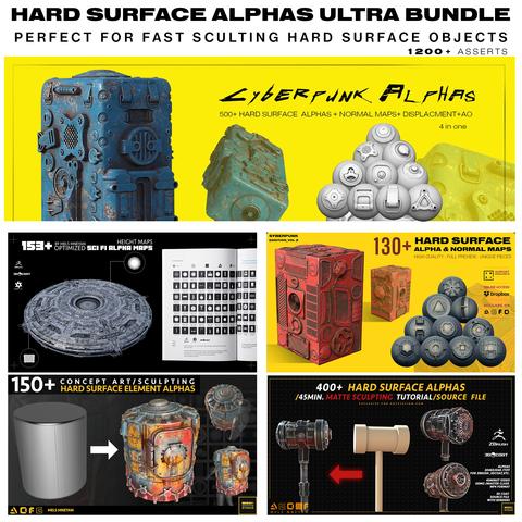 1200+ HARD SURFACE ALPHAS BUNDLE