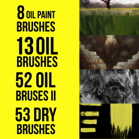 126 Oil Brushes for Photoshop