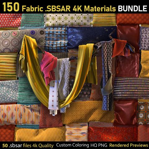 150 PBR Fabric Materials-Vol1&2