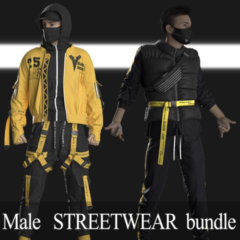 Male Streetwear. Marvelous Designer / Clo3D project +obj