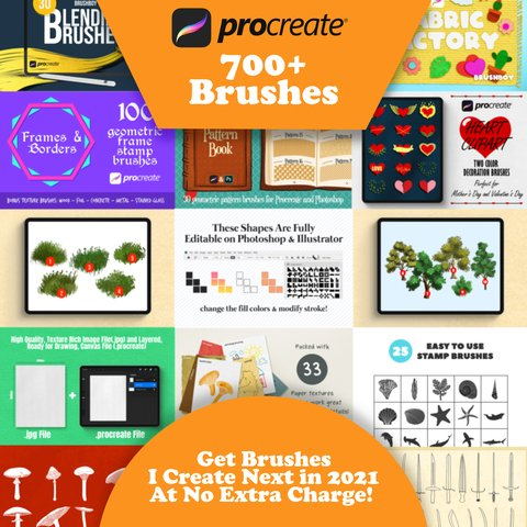 HUGE Procreate Bundle - All My Products - 700+ Brushes