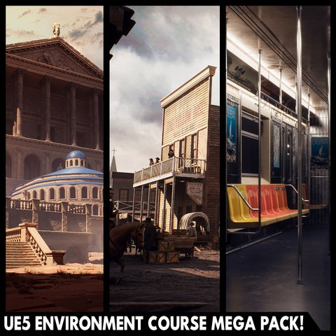 Unreal Engine 5 Environment Course Mega Pack