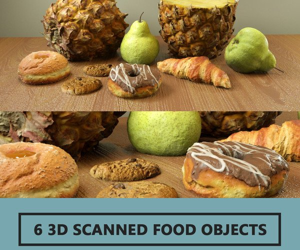 6 3D Scanned Food Objects