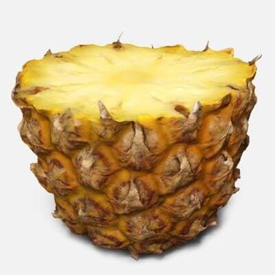 Pineapple half