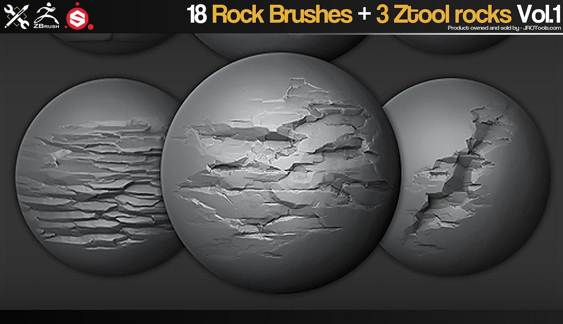 JROTools - Tools for 3D artists - ZBrush/SP - 18 Rock