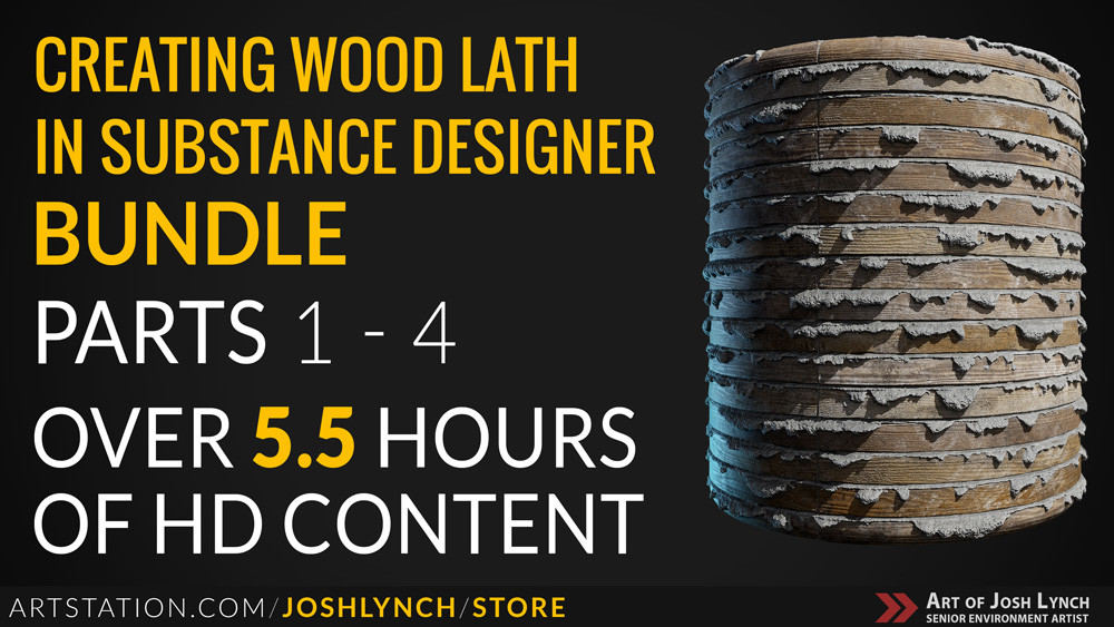 Wood lath bundle artstation thumbnail