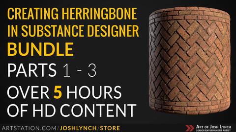 Creating Herringbone Bricks in Substance Designer: Bundle