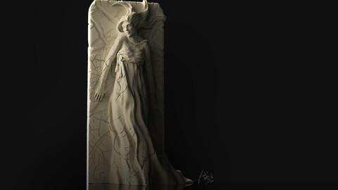Plaster Girl Sculpture 3D Print files