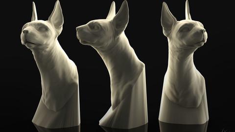 Sphinx Cat Bust 3D Printable Sculpture