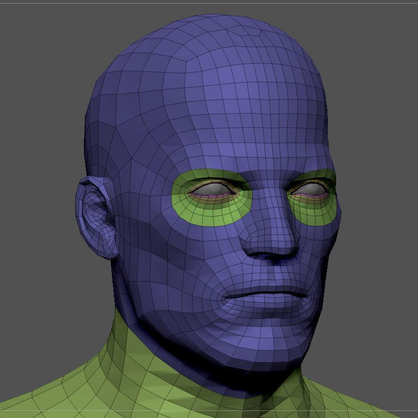 Superhero base mesh 3d model low poly obj fbx ma mb ztl mtl tbscene%20%283%29