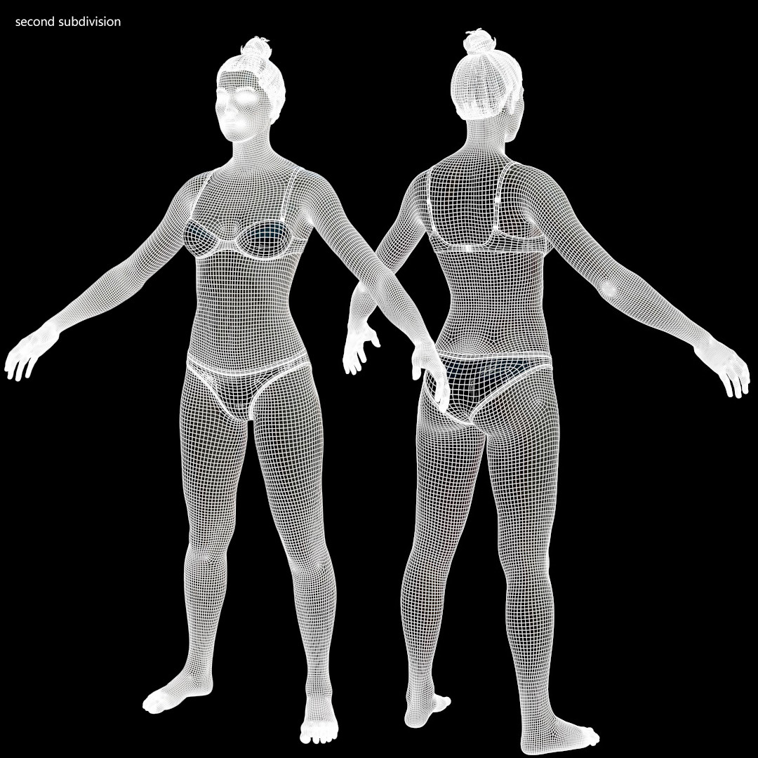 Averagemalebody by alexlashko wireframe 02