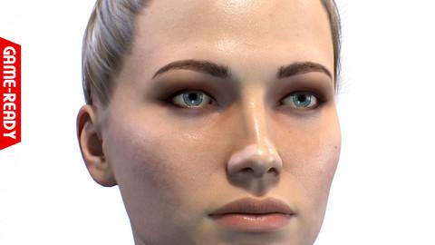 Average Caucasian Female Head